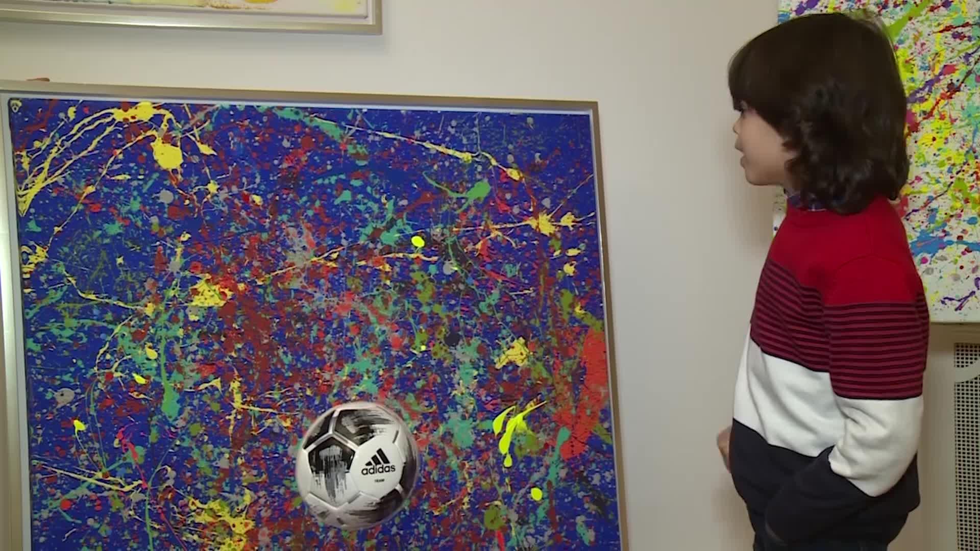 """El """"mini Picasso"""" alemán agita el mundo del arte con sólo 7 años"""