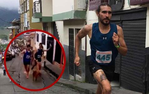YouTube viral: atleta colombiano pateó a un perro en plena carrera y empresa le quitó patrocinio | VIDEO