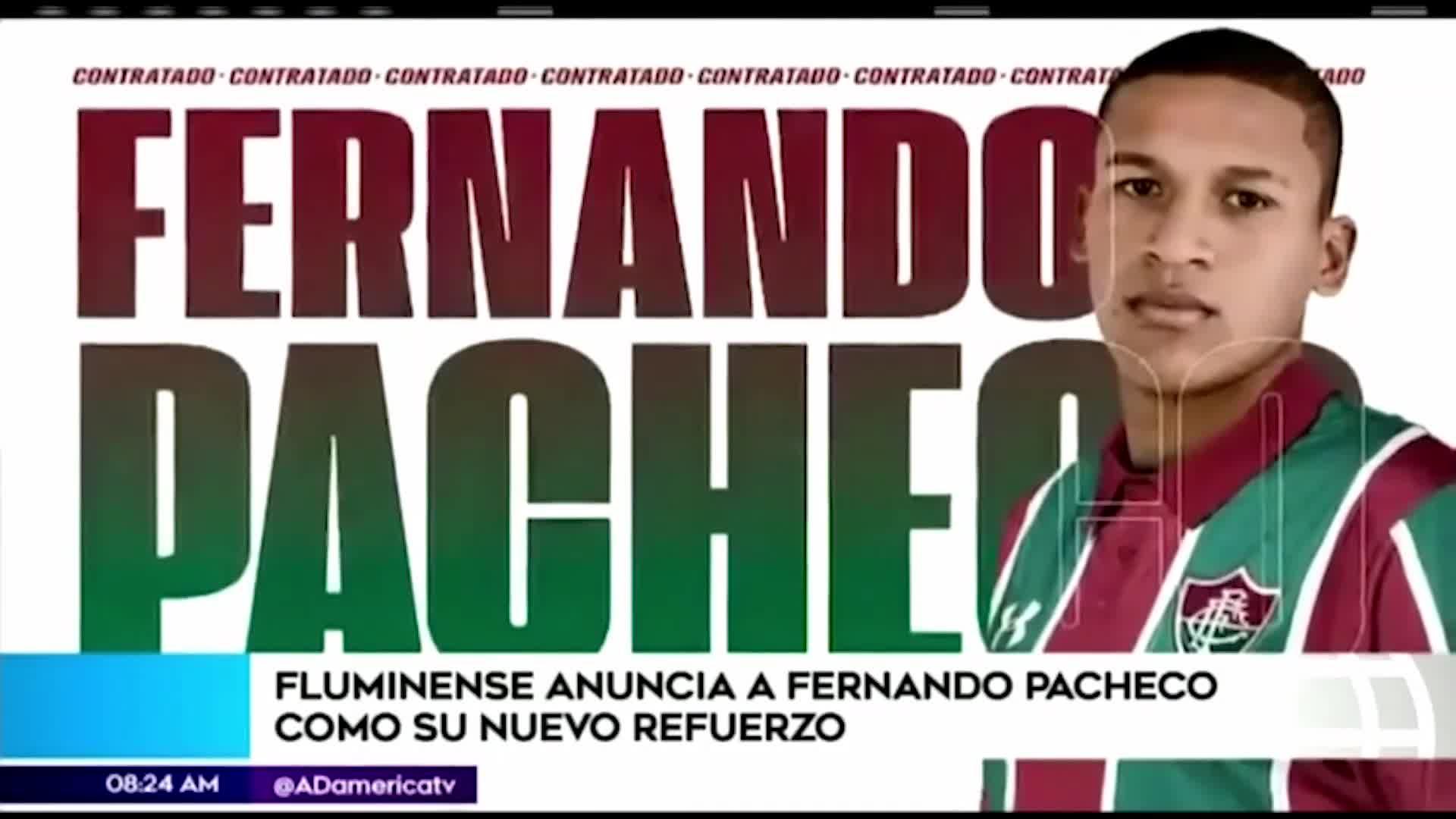 Fernando Pacheco llegó a Brasil para integrarse a Fluminense