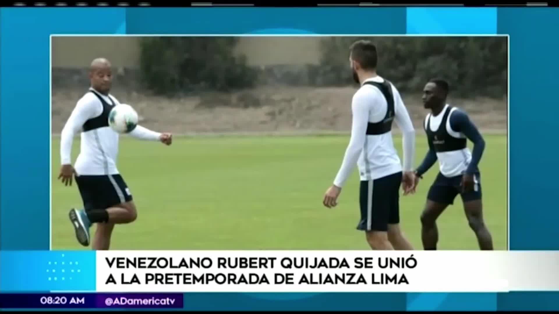 Rubert Quijada inició la pretemporada con Alianza Lima