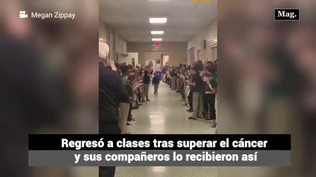 Video: Niño regresó a clases luego de vencer el cáncer y sus compañeros lo recibieron a lo grande