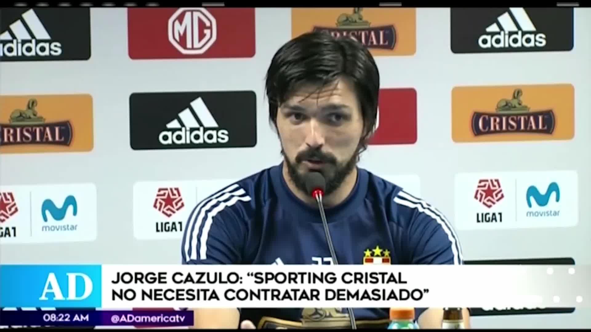 Jorge Cazulo asegura que Sporting Cristal no necesita contratar demasiado para lograr el campeonato
