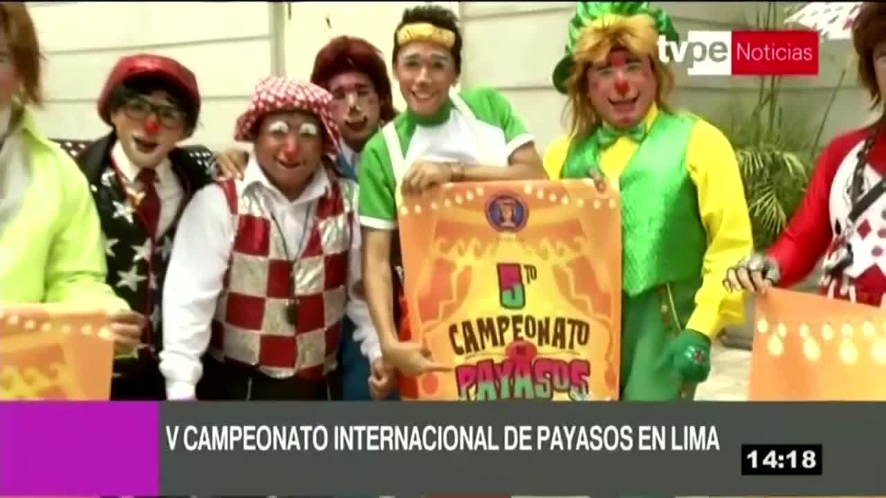 Representantes de 9 países participarán del V Campeonato Internacional de payasos |