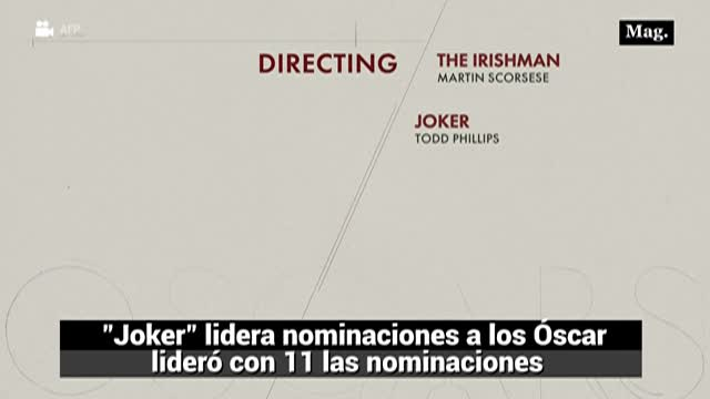 """The Joker"" lidera nominaciones a los Óscar"
