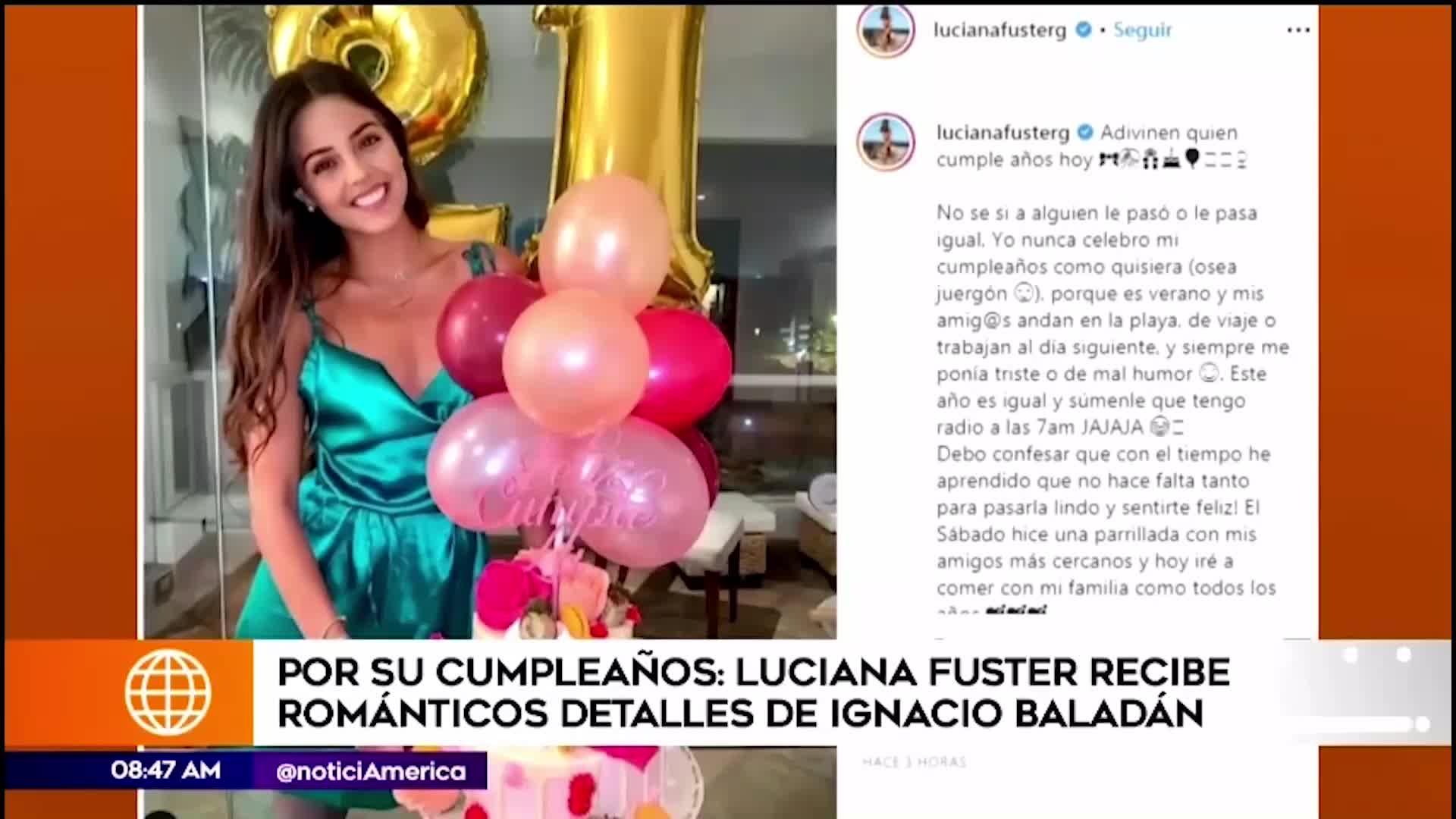 EEG: Luciana Fuster recibió detalle de Ignacio Baladán por su cumpleaños