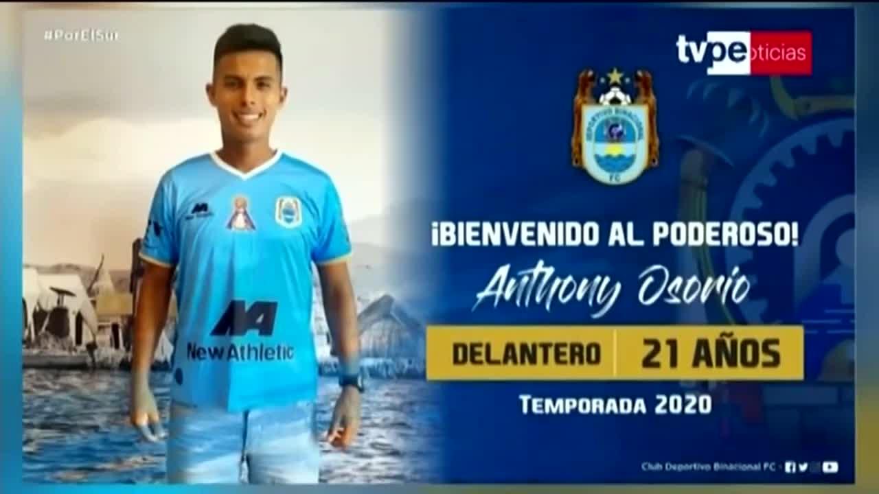 Antohny Osorio fue oficializado como nuevo refuerzo de Binacional