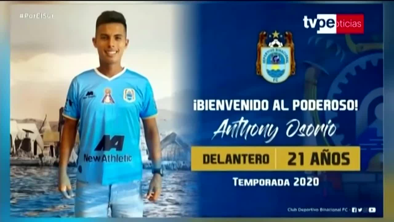 Llega a préstamo: Antohny Osorio fue oficializado como nuevo refuerzo de Binacional