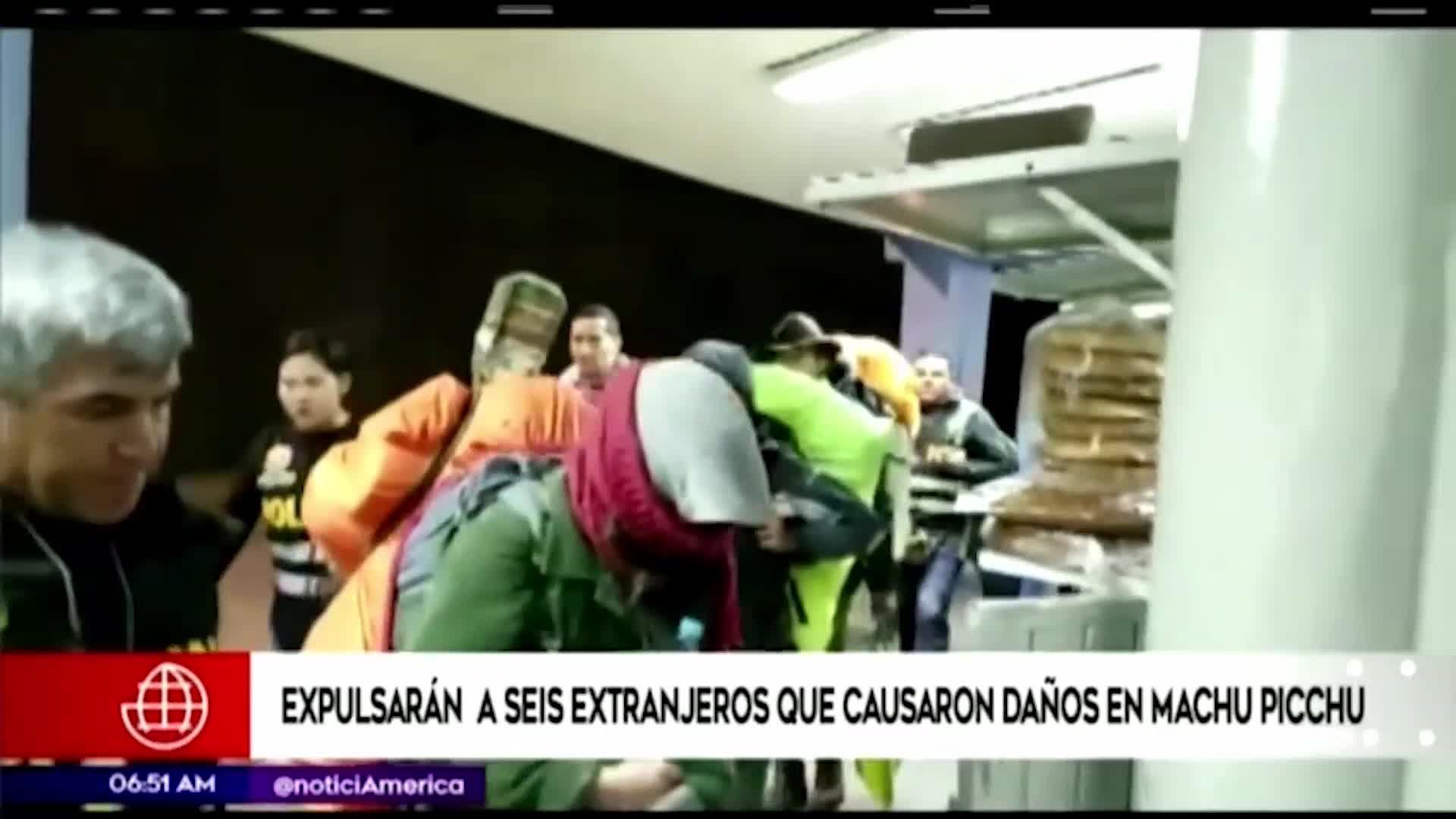 Expulsan del Perú a extranjeros que atentaron contra Machu Picchu