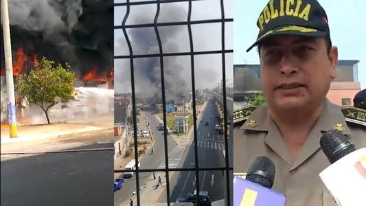 El Agustino: Incendio en almacén de balones de oxígeno deja dos heridos