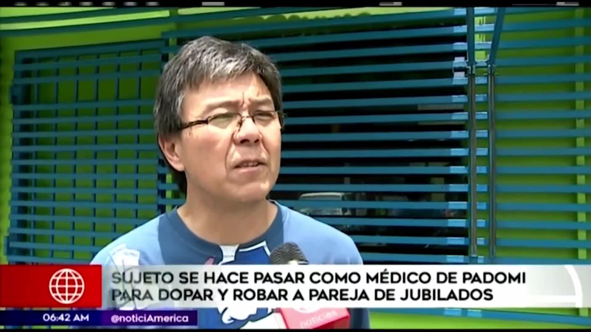 Hombre se hace pasar por médico de Padomi para robar en casa de jubilados
