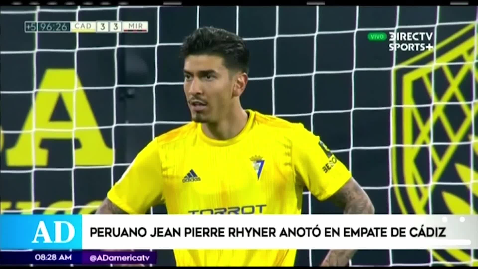 Jean Pierre Rhyner anotó su primer gol en la segunda división española