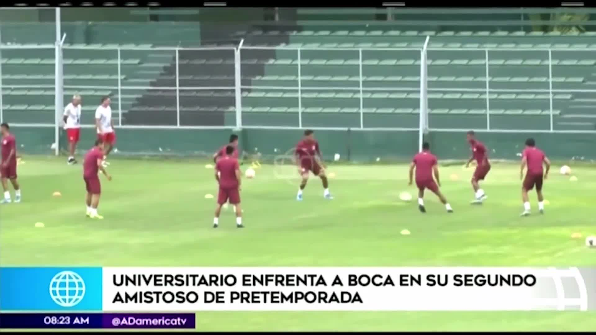 Universitario de Deportes terminó su último entrenamiento para enfrentar a Boca Juniors