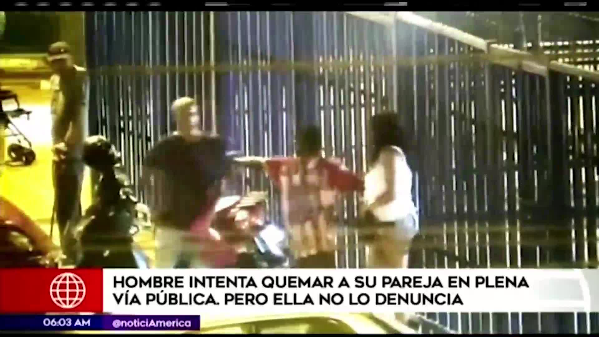 La Victoria: sujeto intenta quemar a su pareja en plena vía pública