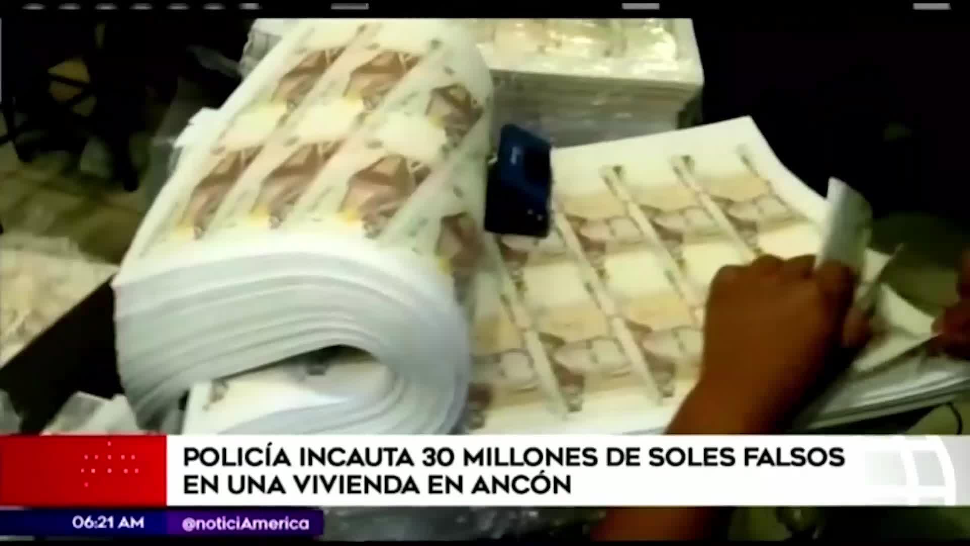 Ancón: Policía incauta S/30 millones de billetes falsificados