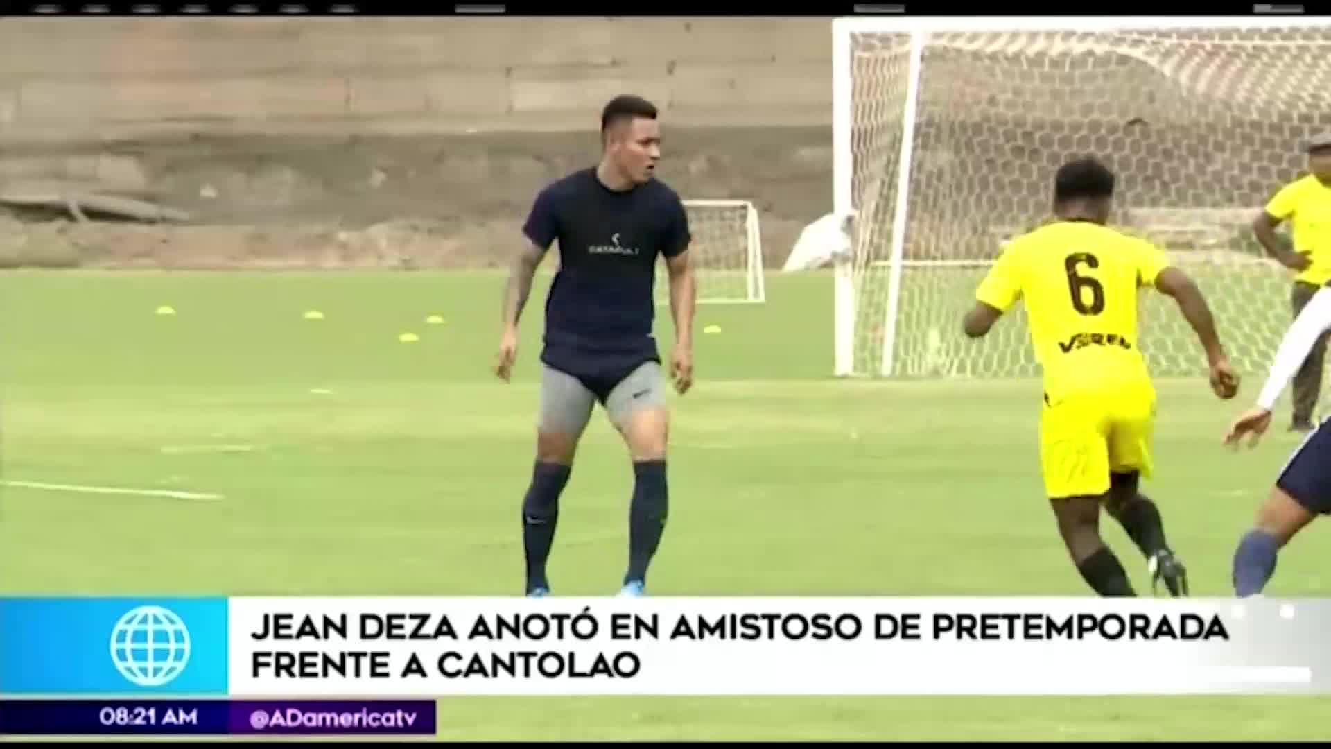 Jean Deza fue figura en el primer amistoso de Alianza Lima