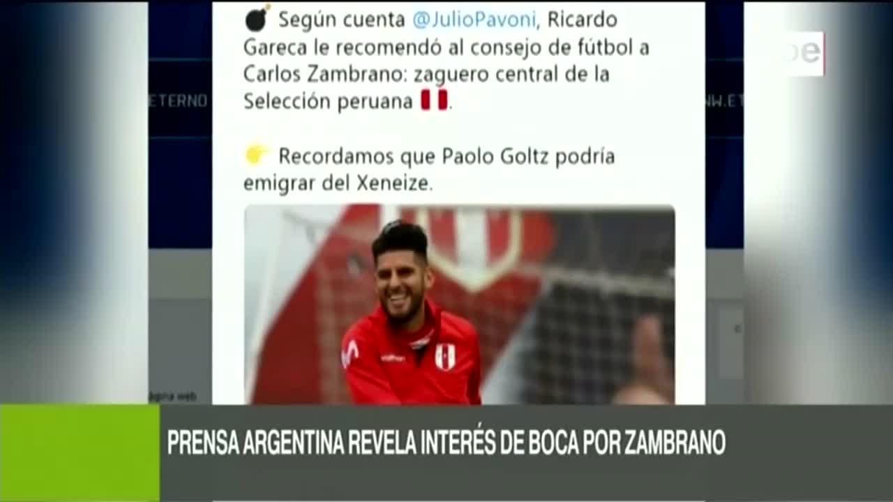 Carlos Zambrano despierta el interés de Boca Juniors por recomendación de Ricardo Gareca