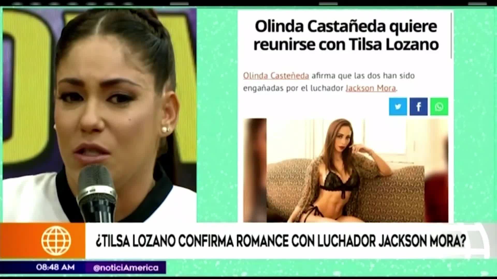 Tilsa Lozano habría iniciado un romance con el luchador Jackson Mora