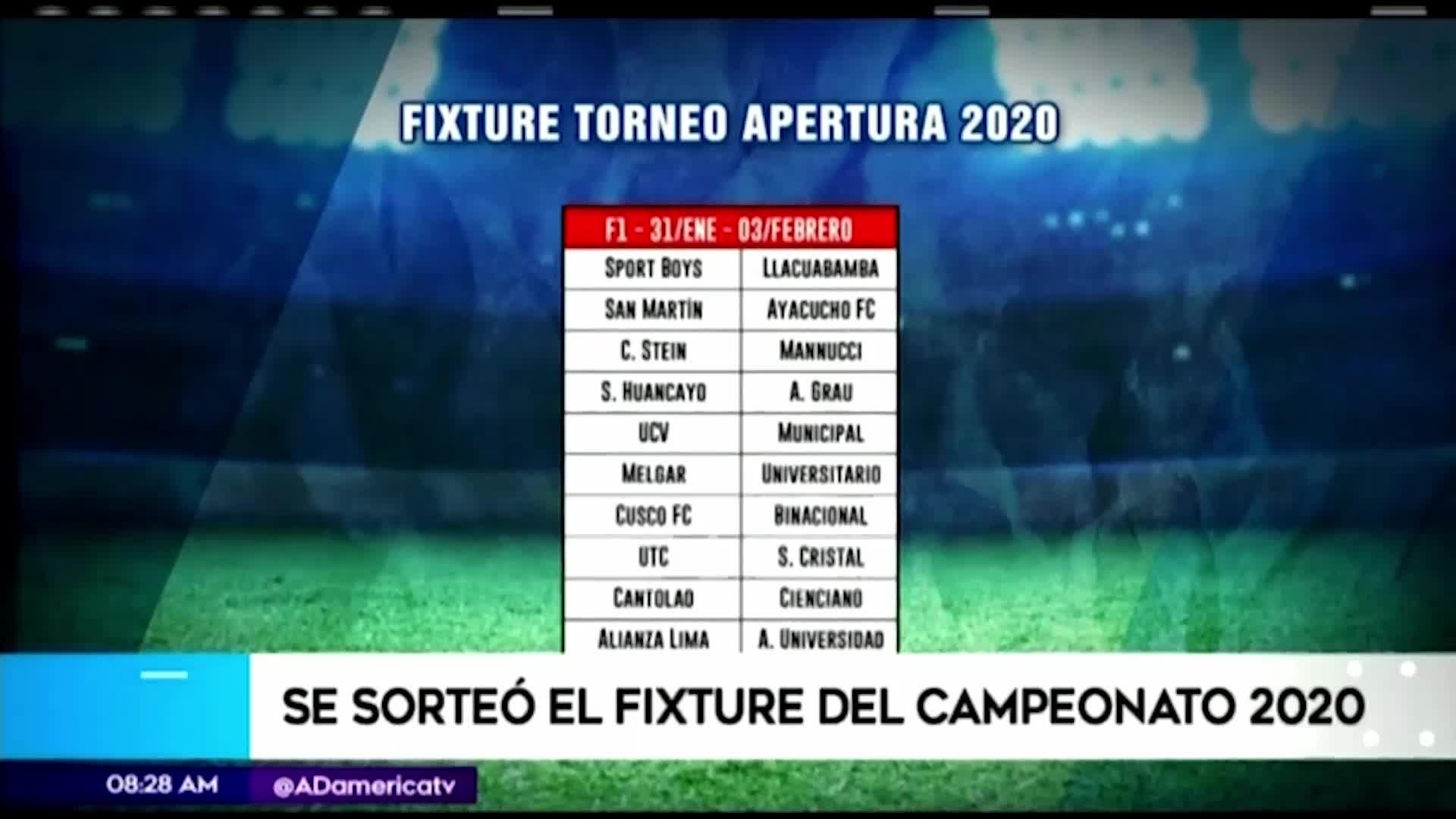 Liga 1: conoce el fixture completo del Torneo Apertura de la temporada 2020