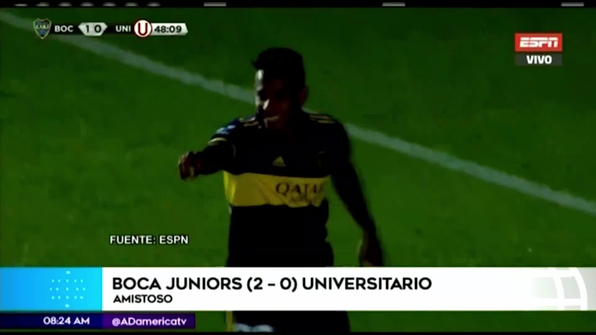 Boca Juniors venció por 2-0 a Universitario de Deportes en el estreno de Russo