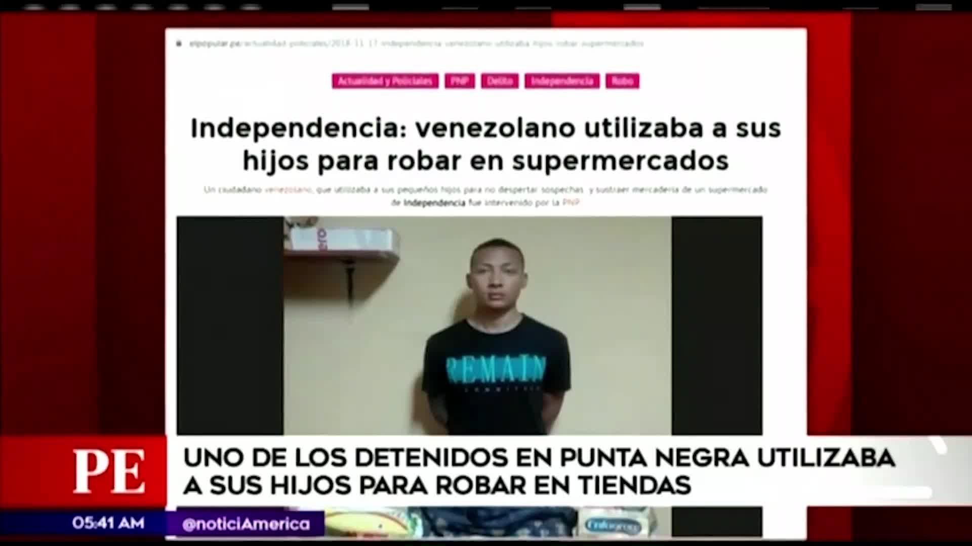 Uno de los detenidos en Punta Negra utilizaba a su hijo para asaltar tiendas