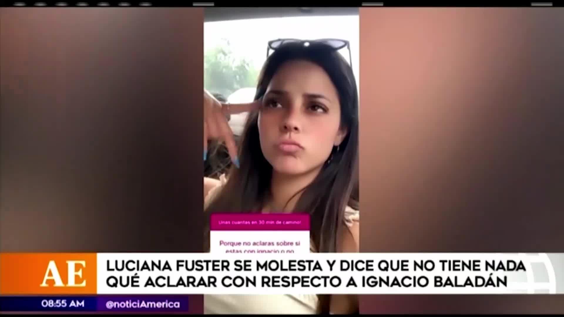 Luciana Fuster responde así cuando le preguntan sobre su relación con Ignacio Baladan