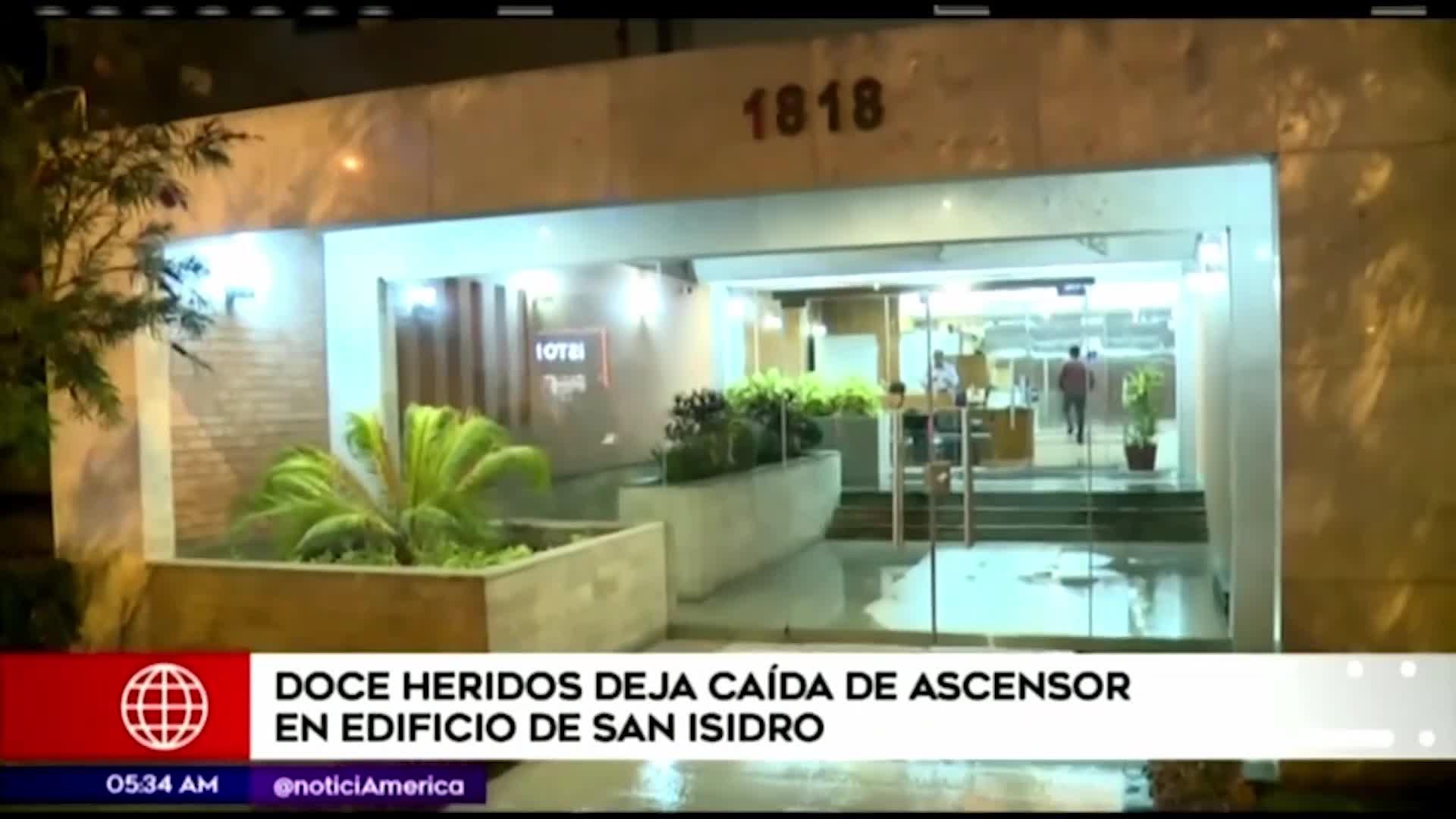 San Isidro: doce personas heridas dejó caída de ascensor