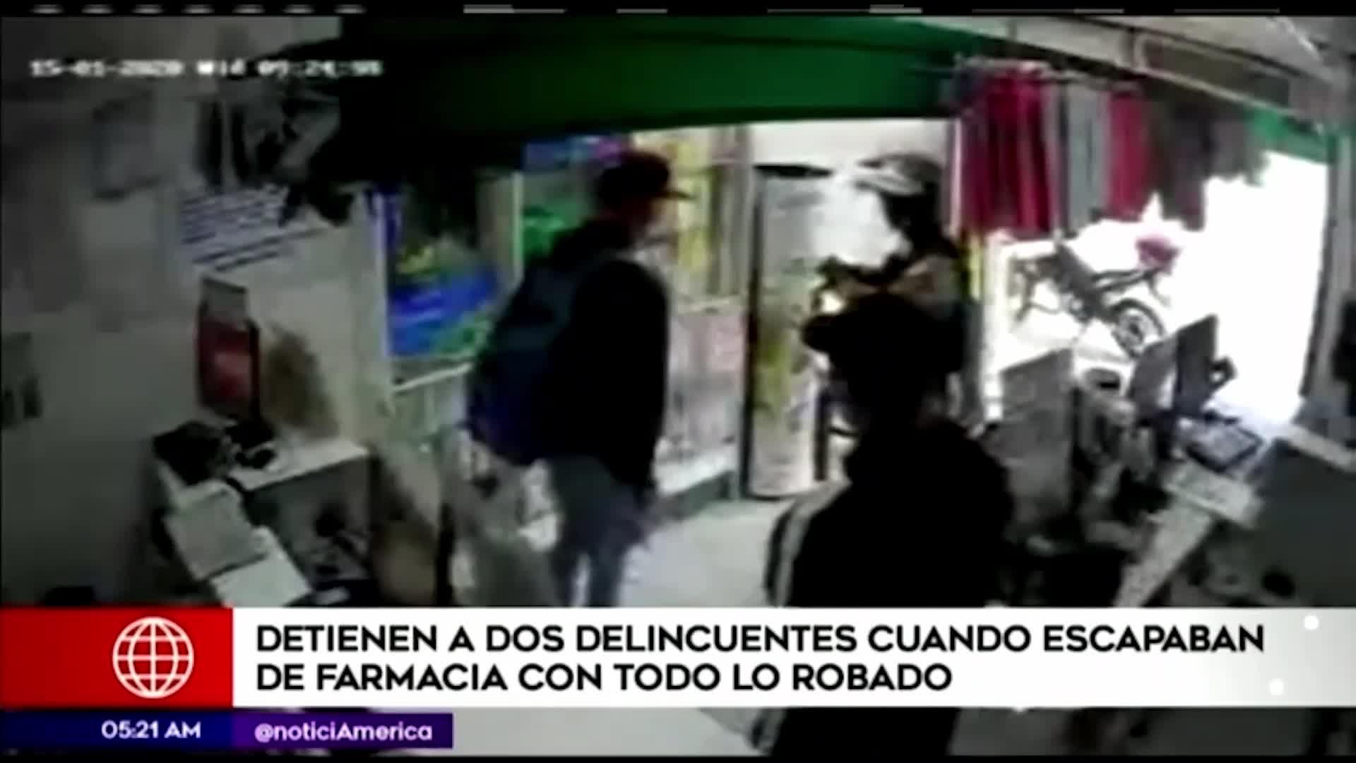 Comas: dos delincuentes son detenidos cuando intentaban robar una farmacia