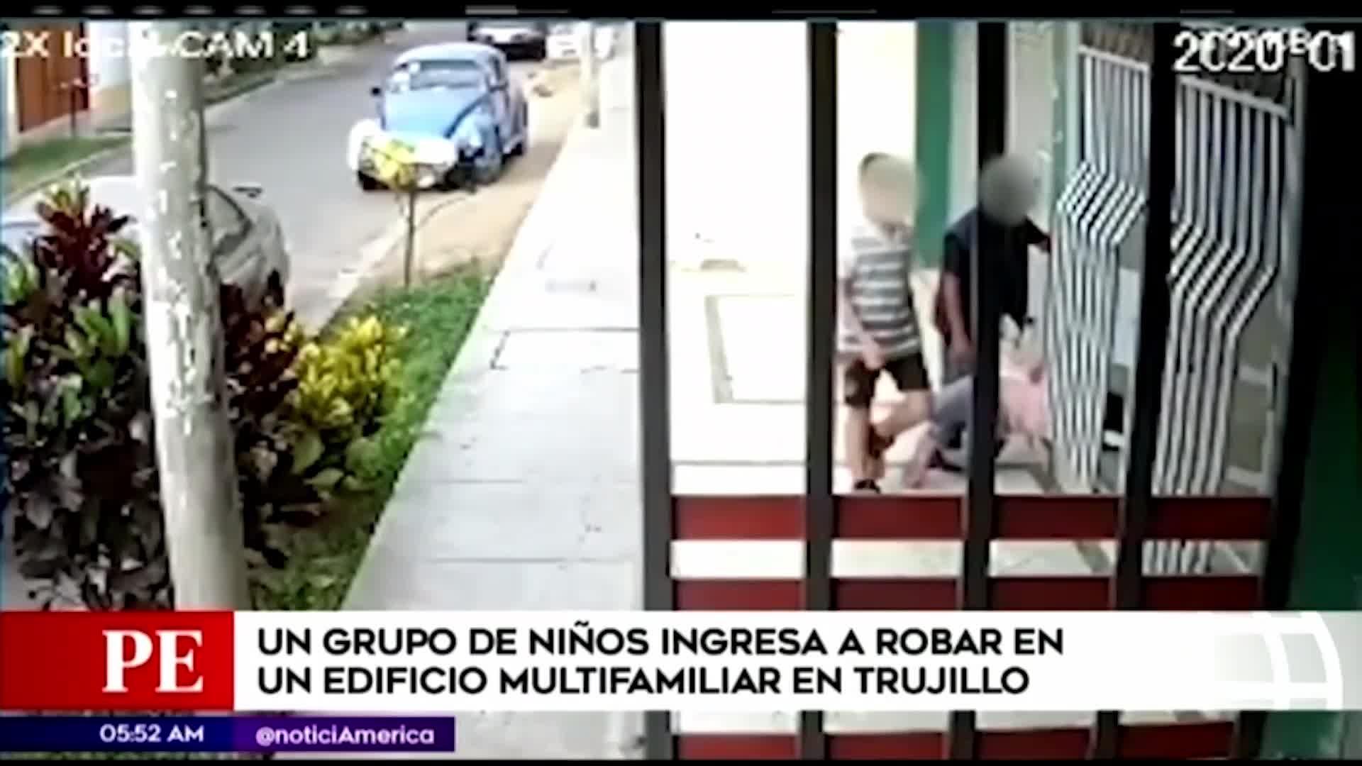 Trujillo: un grupo de niños ingresaron a un edificio multifamiliar para robar