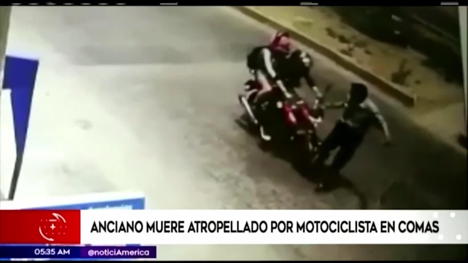 Comas: anciano fallece tras ser embestido por una motocicleta