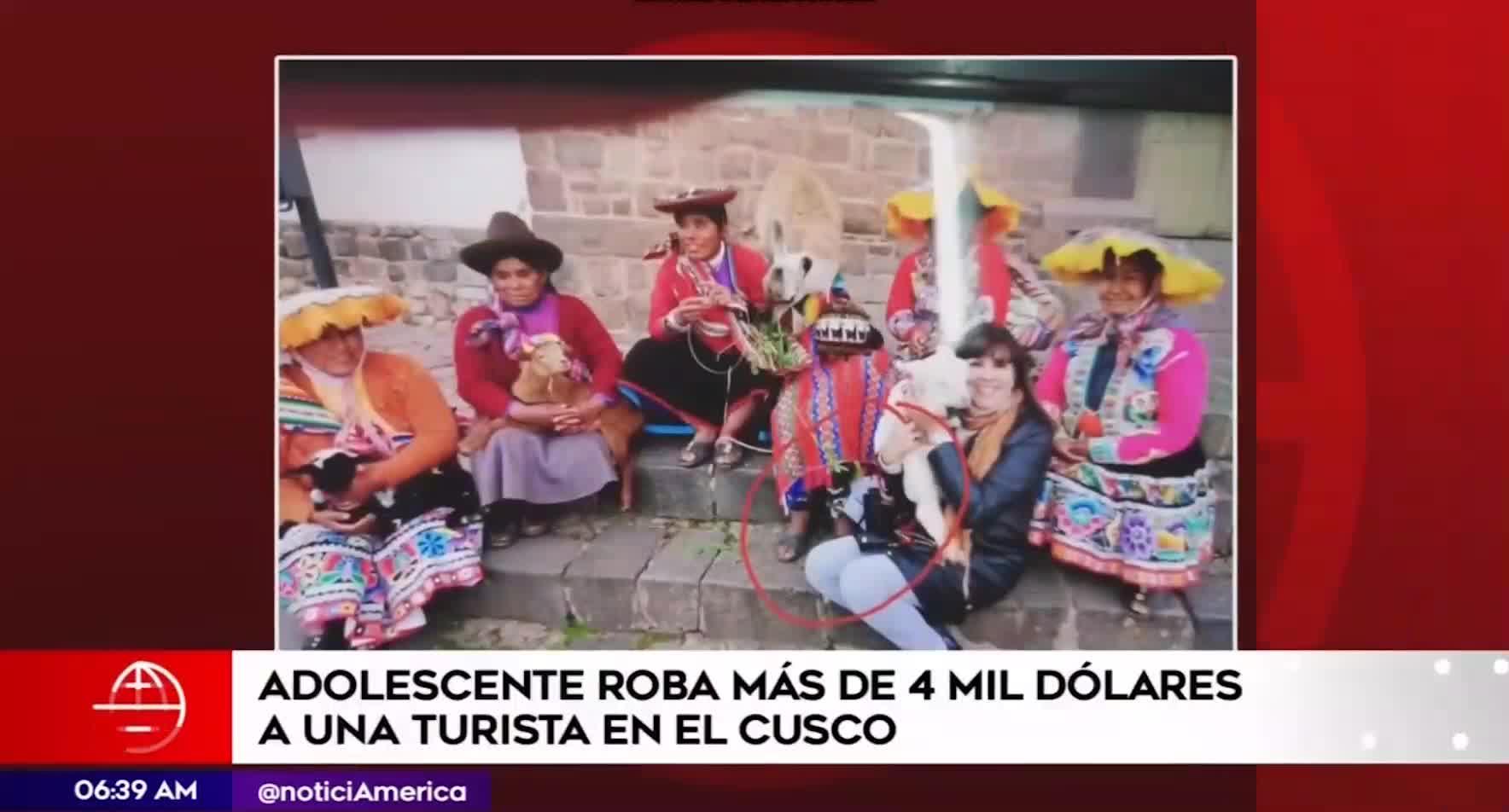 Cusco: detienen a adolescente por sustraer 4500 dólares a turista