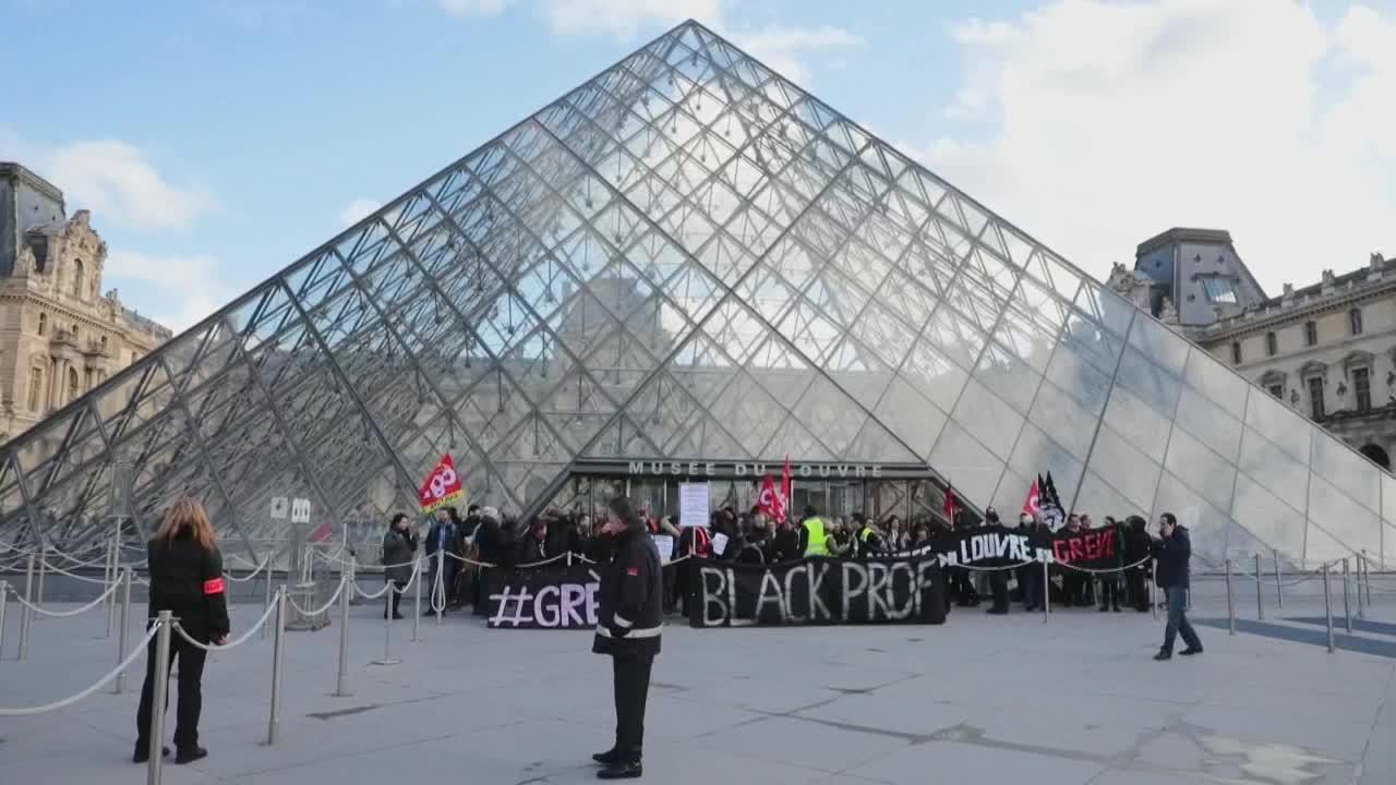 Francia: Museo Louvre, cerrado por la protesta contra la reforma de las pensiones