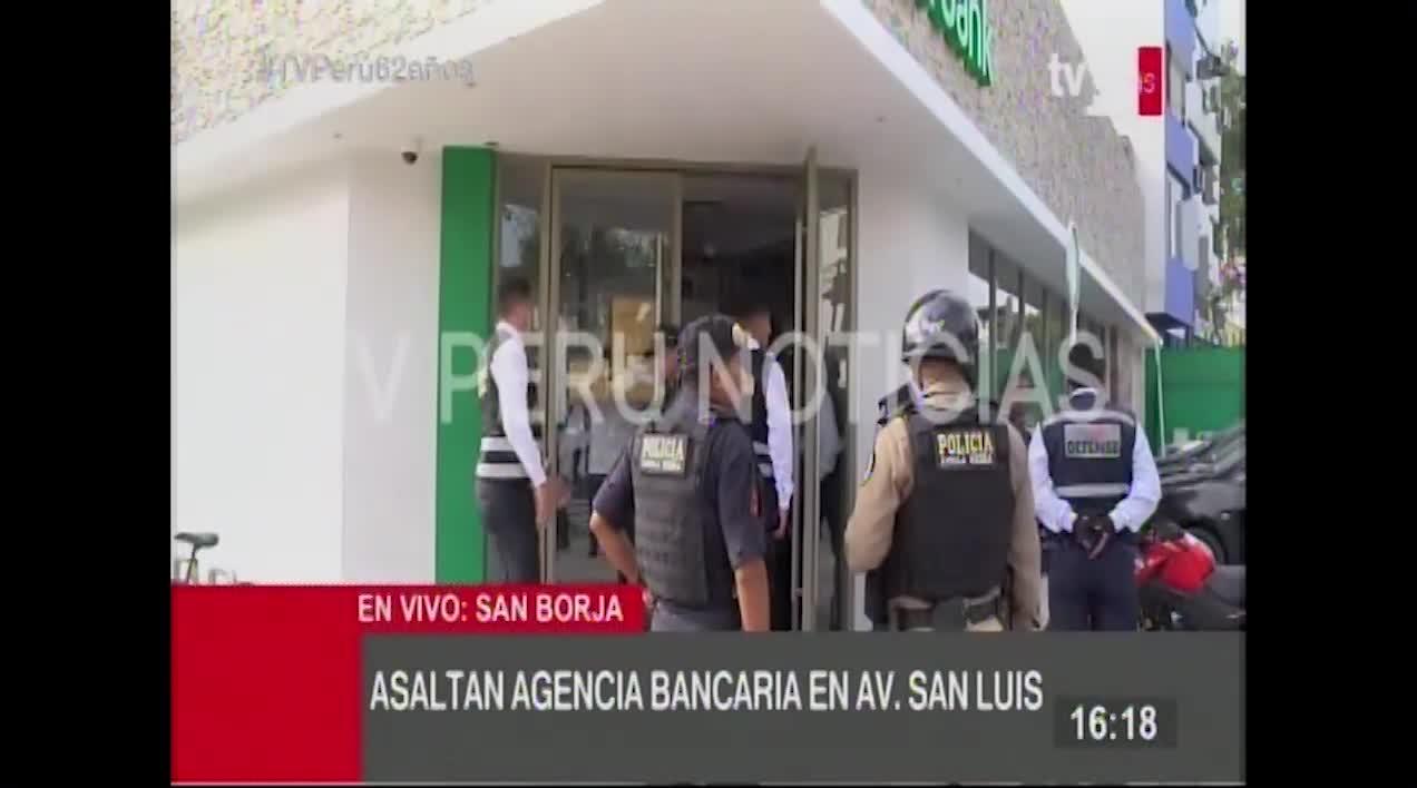 San Borja: roban cinco mil dólares a cambista en agencia bancaria