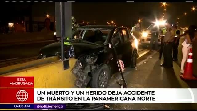 Accidente en la Panamericana Norte deja un muerto y un herido