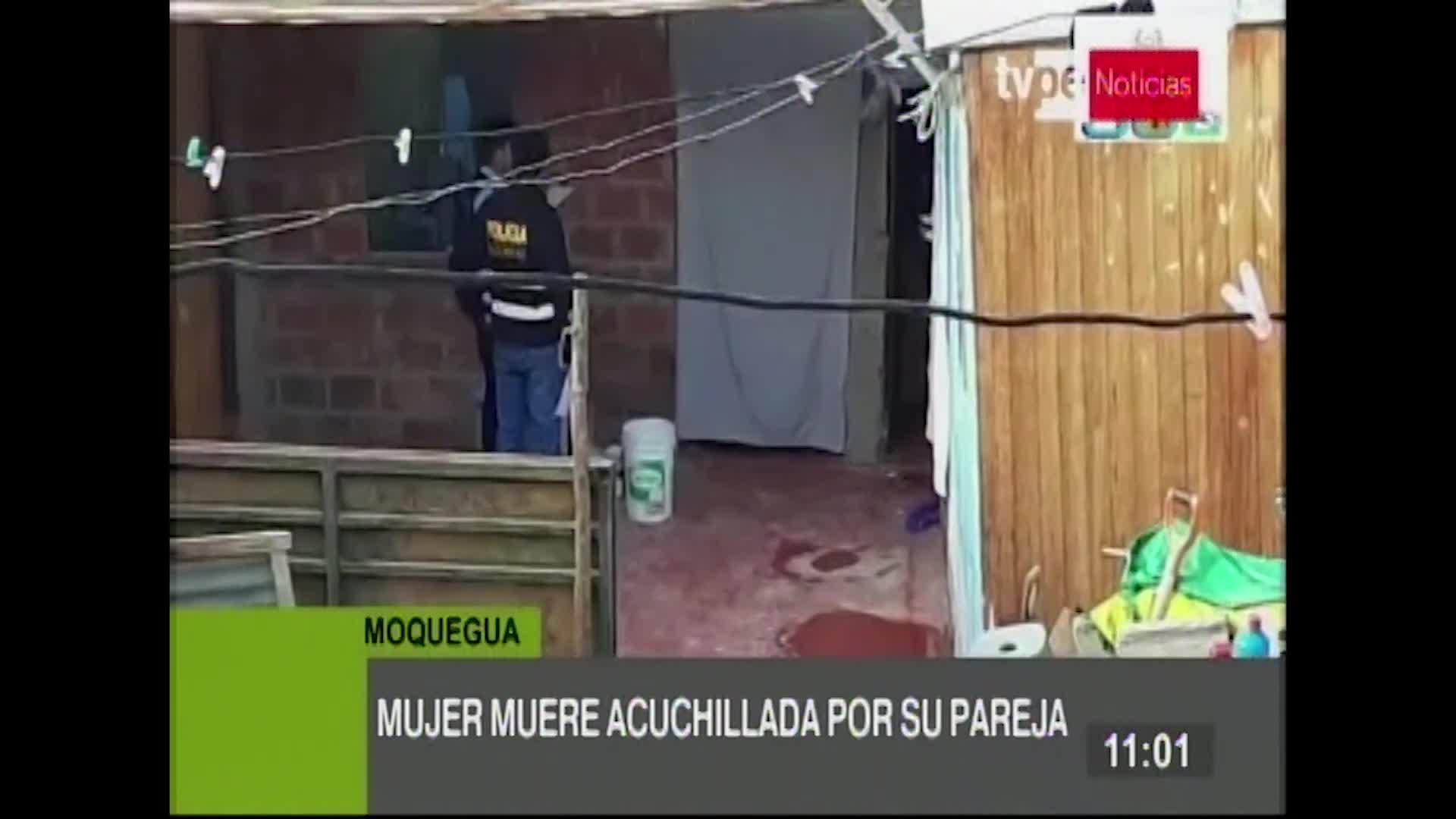 Mujer es hallada muerta tras ser acuchillada por su pareja en Moquegua