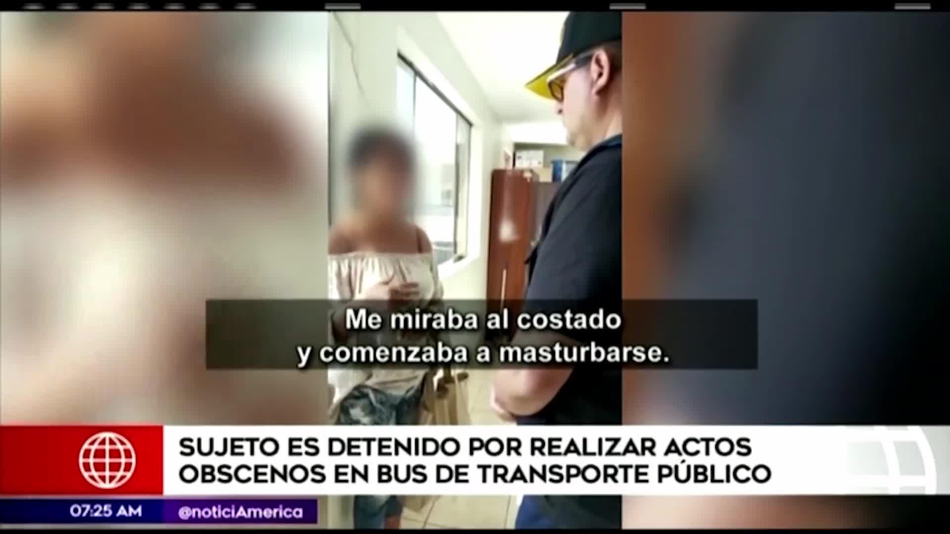 Sujeto es detenido por masturbarse en el transporte público