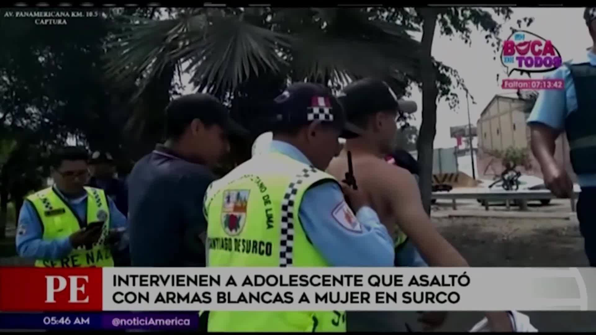 Surco: Adolescente asaltó a mujer con arma blanca