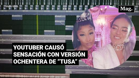 """Viral: Youtuber causó sensación con su versión ochentera de """"Tusa"""""""