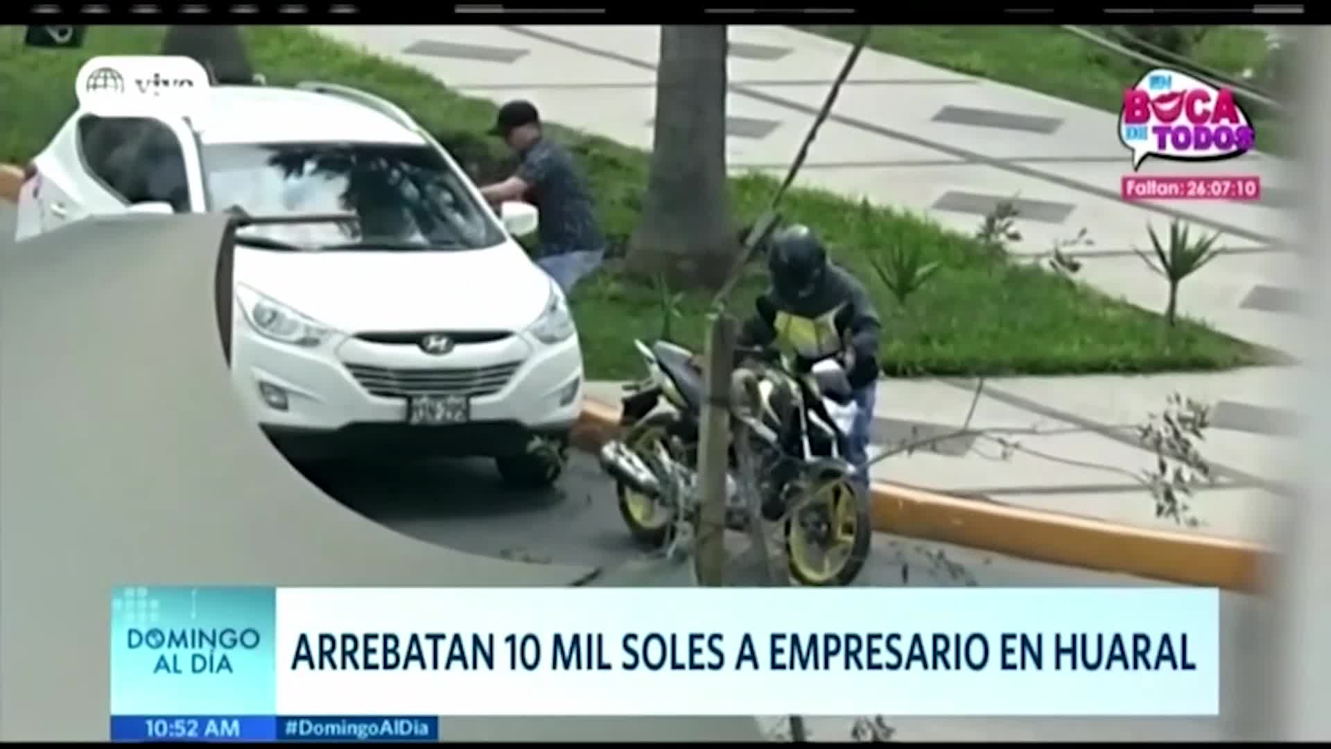 Delincuentes roban 10 mil soles a empresario en Huaral