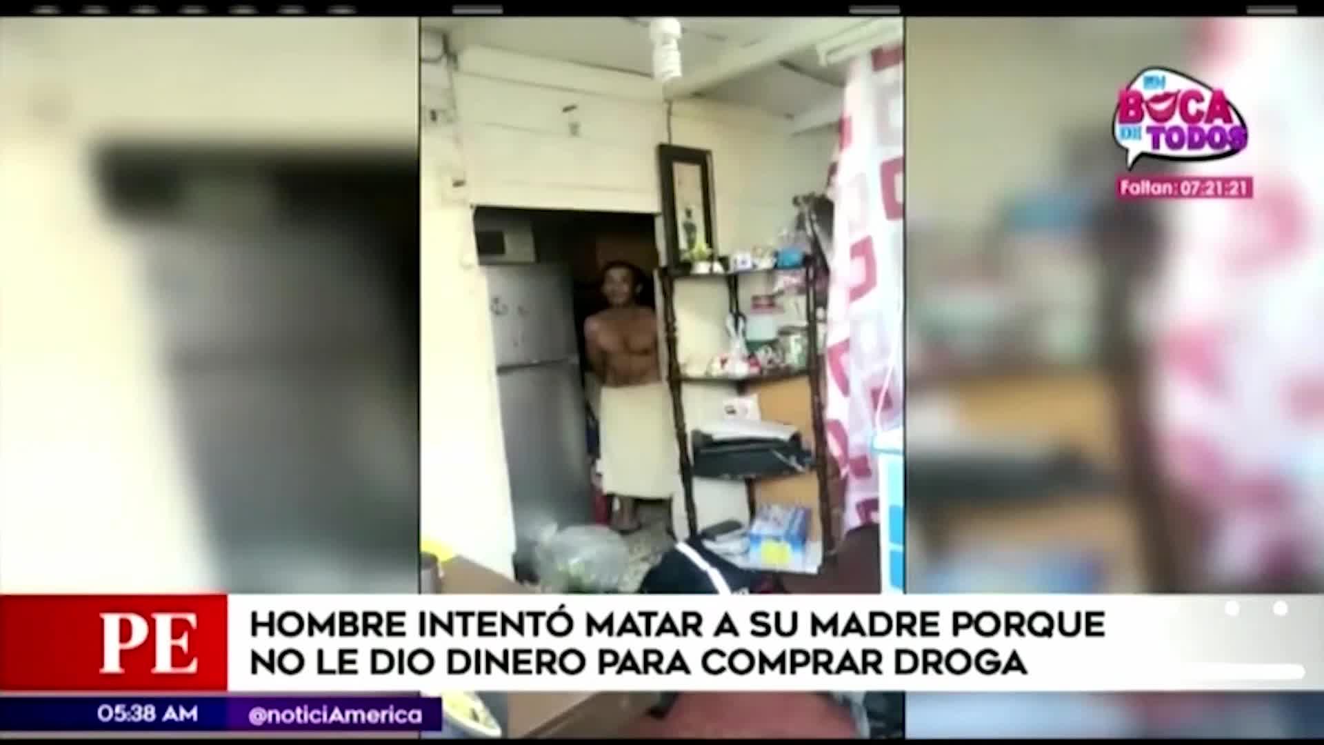 Sujeto amenazó con un cuchillo a su madre en el Callao