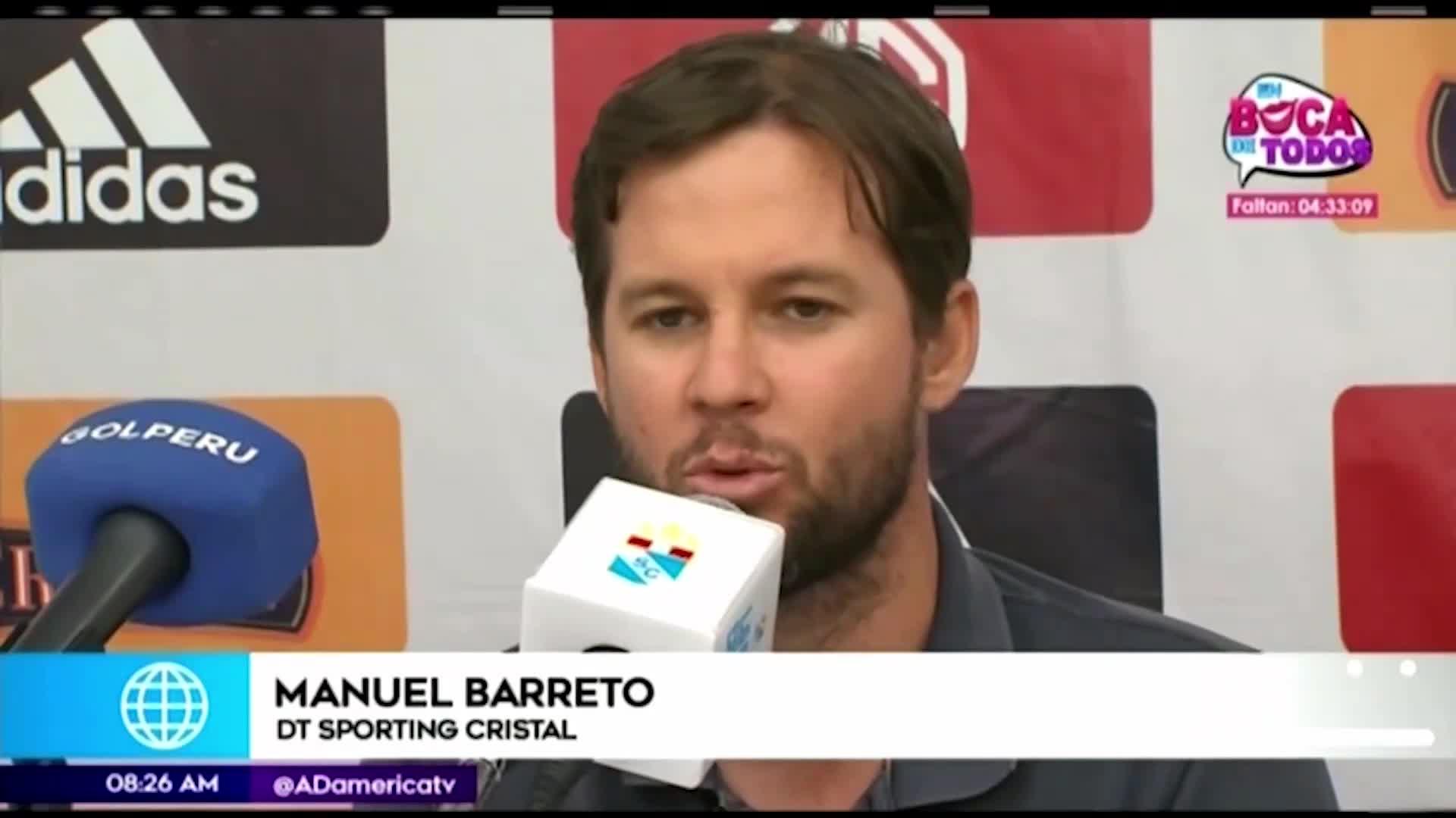 Manuel Barreto se mostró orgulloso del rendimiento de Cristal en la 'Tarde Celeste 2020'