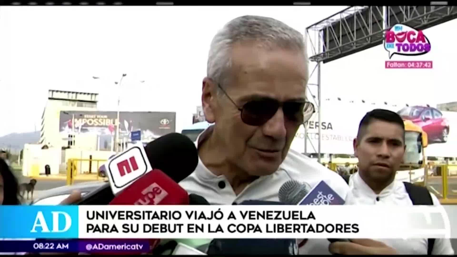 Universitario partió a Venezuela para enfrentar a Carabobo por la Copa Libertadores
