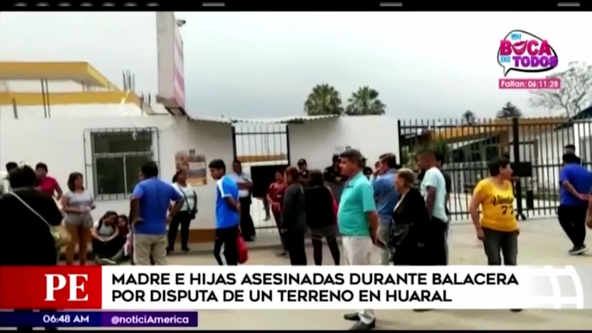 Balacera por terreno deja dos muertos y tres heridos en Huaral