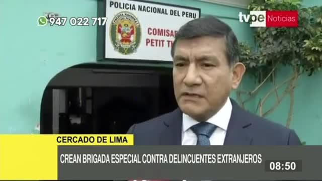 Ministro Morán confirma la creación de brigada especial contra la migración delictiva