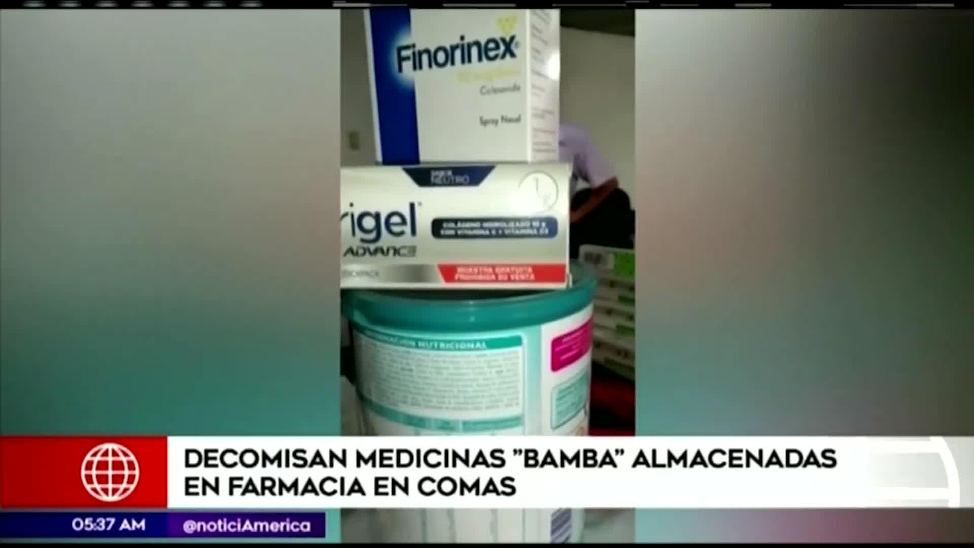 Comas: autoridades decomisan medicamentos adulterados en farmacia