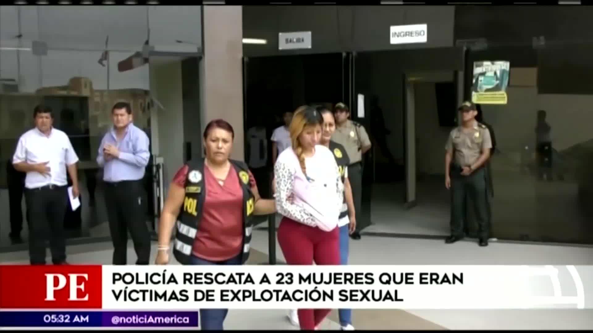Policía Nacional rescata a 23 mujeres víctimas de explotación sexual