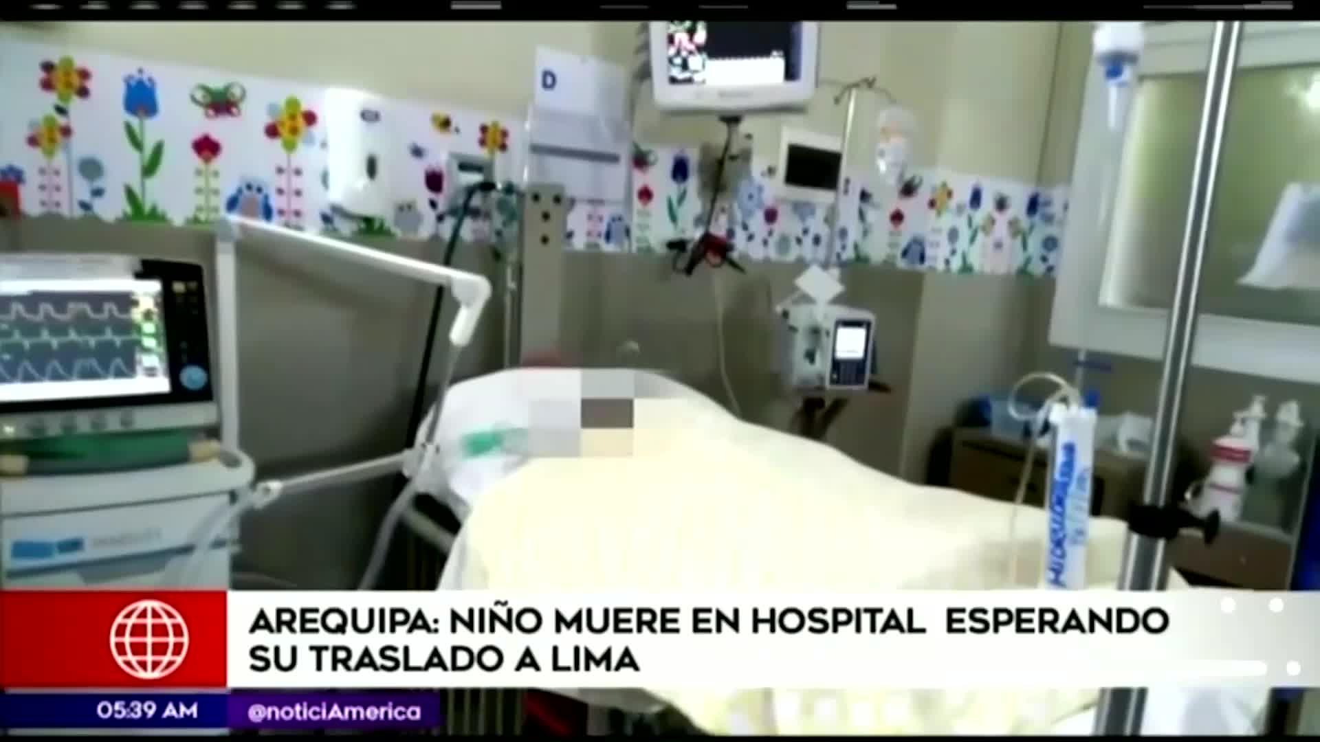 Arequipa: bebe de dos meses fallece a la espera de ser trasladada a Lima