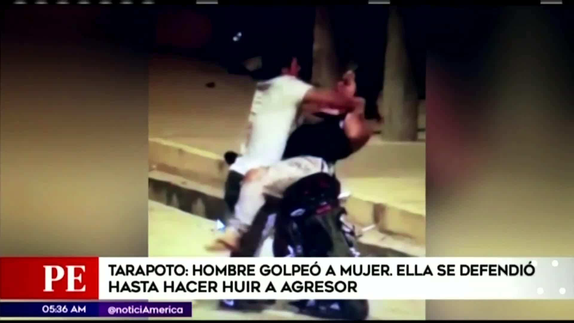 Tarapoto: mujer se defiende de los golpes de su pareja y hace huir al agresor