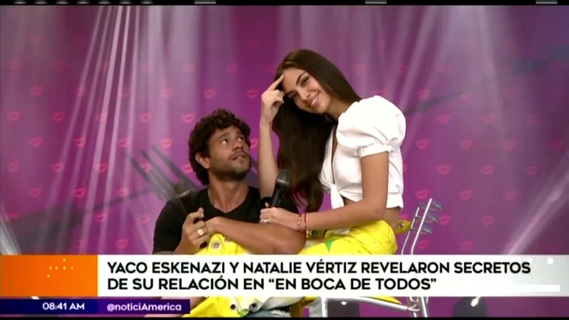 Yaco Eskenazi confesó que sintió celos por una foto de Natalie Vértiz y Diego Boneta