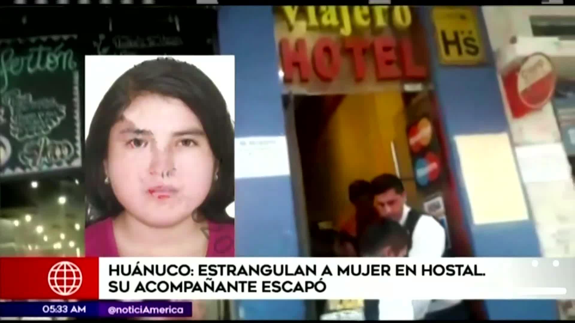Huánuco: encuentran cadáver de mujer con signos de estrangulamiento en hostal