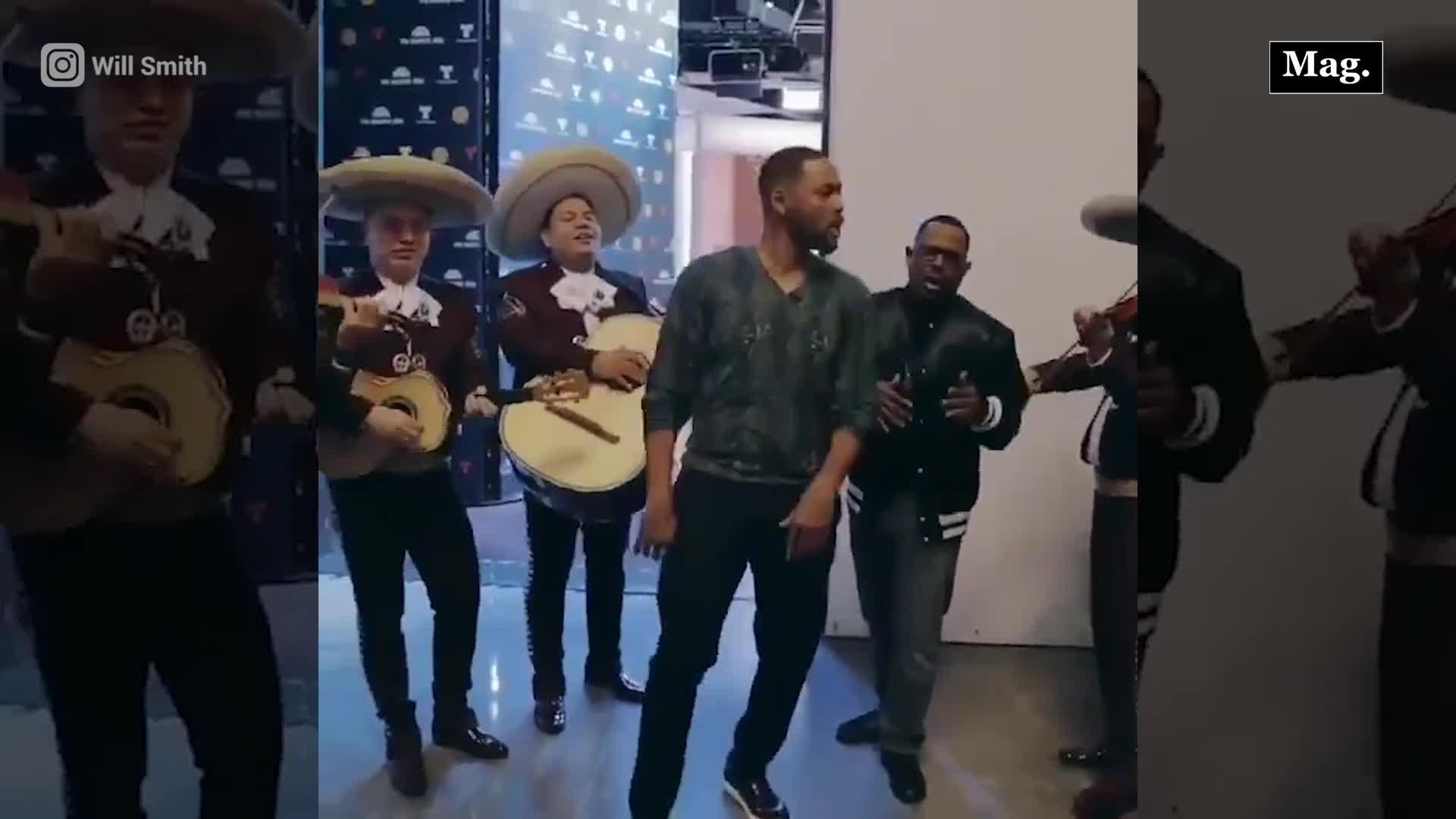Will Smith sorprende cantando con mariachis la canción de su nueva película